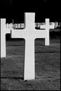 Grave at the American Military Cemetary on the D-day beaches