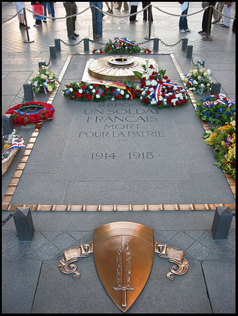 Arc de Triomphe, Tomb of the Unknown Soldier