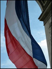 French flag on Bastille Day