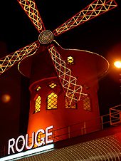 French landmark The Moulin Rouge