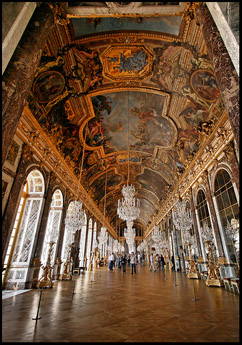 Hall of Mirrors at Palace of Versailles