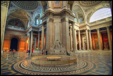 The interior of le Pantheon, Paris