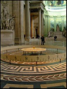 The pendulum in le Panthéon, Paris