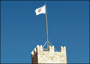 Sainte-Marie Tower with flag at the Prince