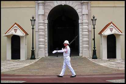 Guard outside the Prince