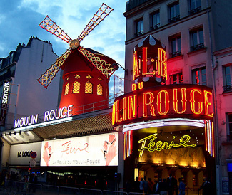 Tourist attraction in France, The Moulin Rouge